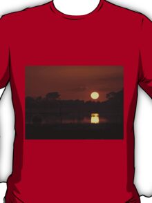 Boat in amazing sunset T-Shirt