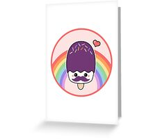 Cute Mustache Popsicle Greeting Card