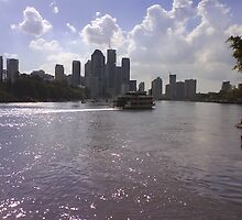 Brisbane from Kangaroo Point by kewzoo
