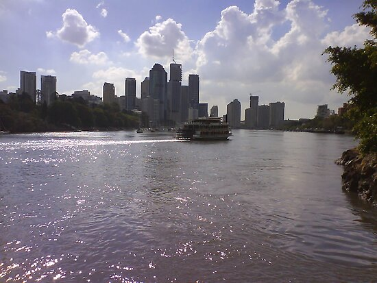 Brisbane from Kangaroo Point by kewzoo