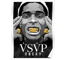 Gold Grills - ASAP Rocky Illustration Poster