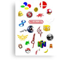 Nintendo collage Canvas Print