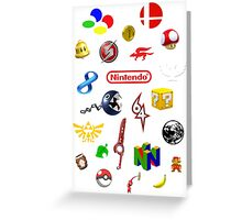 Nintendo collage Greeting Card