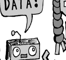 My Data? Robot Kid Sticker