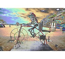 Frog Cycling, Sculptures By The Sea, Australia 2011 Photographic Print