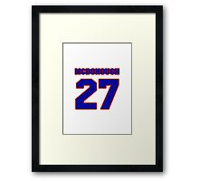National Hockey player Hubie McDonough jersey 27 Framed Print