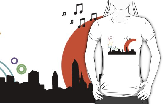 cityscape tee by Imogene Munday
