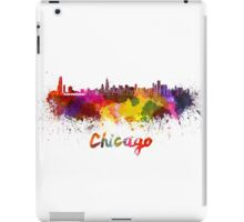 Chicago skyline in watercolor iPad Case/Skin