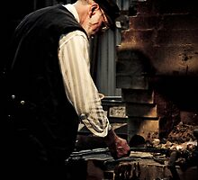 A Blacksmith at work by Samantha Cole-Surjan