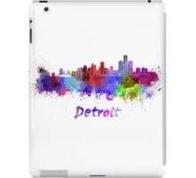 Detroit skyline in watercolor iPad Case/Skin