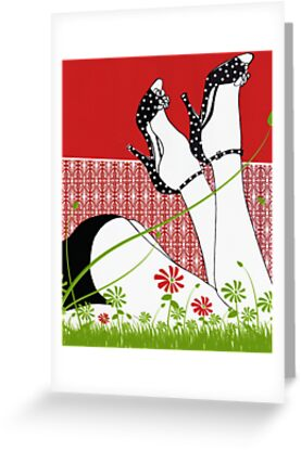 Spring And Polkadots / Fashion Illustration by Mariska