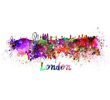 London skyline in watercolor Photographic Print