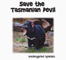 save the Tasmanian Devil Kids Clothes