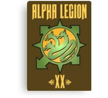 Alpha Legion XX - Warhammer Canvas Print