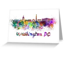 Washington DC skyline in watercolor Greeting Card