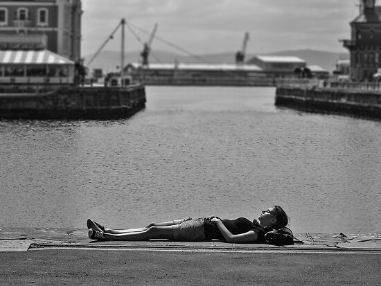 Resting at the waterfront by awefaul