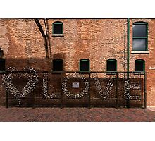 LOVE in the Shadows Photographic Print