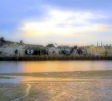 Sunset over Bideford by snurfdood