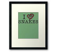 I love snakes! Framed Print