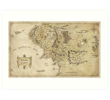 Middle Earth Map Art Print