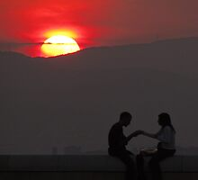 Montjuic Sunset by TheStaggeringGenius