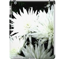Snow Flower black and white chrysanthemum photography art iPad Case/Skin