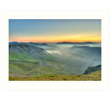 Newlands Valley from Dale Head Art Print
