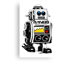 retro robot Canvas Print