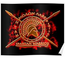 Spartan warrior Poster