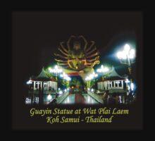 Guayin Statue - Koh Samui's Plai Laem Wat - night shot Kids Clothes