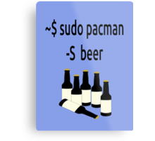 Arch Linux sudo pacman -S beer Metal Print