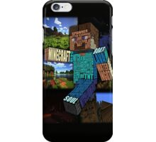 Minecraft Steve Typograpghy iPhone Case/Skin