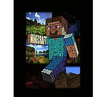 Minecraft Steve Typograpghy Photographic Print