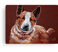 Murphy, The Cow Dog Canvas Print