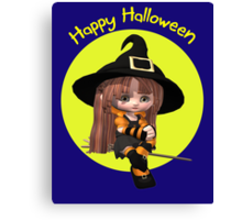 A sweet and Simple Halloween Card Canvas Print