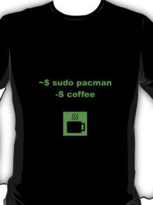 Linux sudo pacman -S coffee T-Shirt