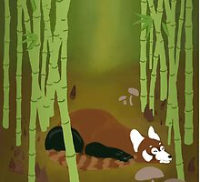 Red Panda Forest by HaleyHawesome