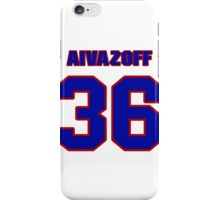 National Hockey player Micah Aivazoff jersey 36 iPhone Case/Skin