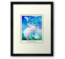 Ah, My bunny! Framed Print
