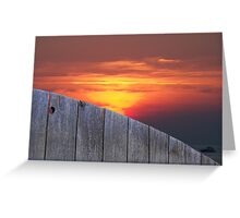 Backyard Sunset Greeting Card