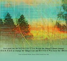 Serenity Prayer Colorful Trees by serenitygifts