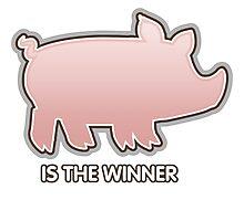 Glitch Overlay The Great Hog Haul Winner Photographic Print