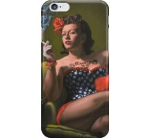 Lucky DeLuxe Smoking Vintage Pin-Up iPhone Case/Skin