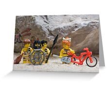 Inventing the wheel - Lego style Greeting Card