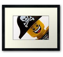 Happy Lego Pirate Framed Print