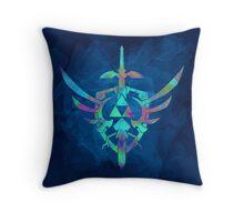 Skyward Sword Blue Throw Pillow