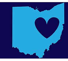 Ohio is Where the Heart is (Blue) Photographic Print