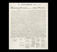 Declaration of Independence, United States of America, USA by TOM HILL - Designer