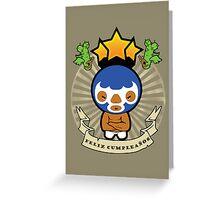 Happy Birthday -  Mexican Wrestler Greeting Card