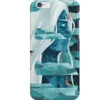 The wanderer and the ice forest iPhone Case/Skin